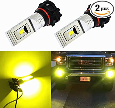 JDM ASTAR 2x PS24W 5202 5201 LED Fog DRL Driving Lights Bulbs Gold Yellow 27-SMD