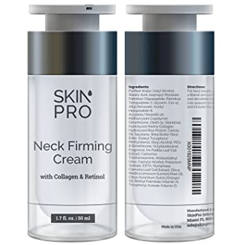 Neck Firming Cream - Anti Aging & Skin Tightening Serum by SkinPro – Age  Defying – Made with Marine