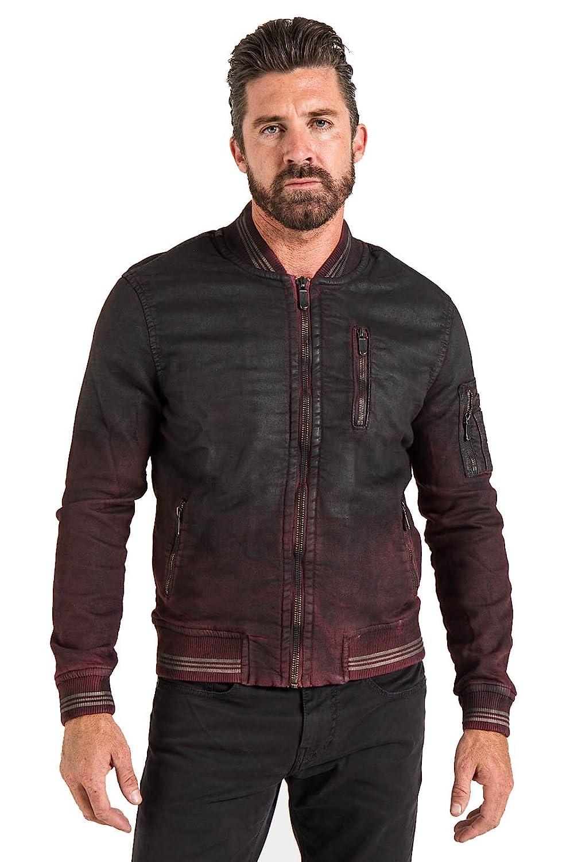 Stitchs Jeans Mens Coated Bomber Jacket