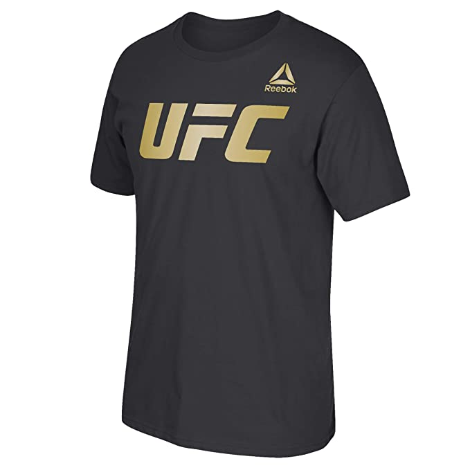 Reebok Mens UFC Essentials Logo Short Sleeve Crew Tee