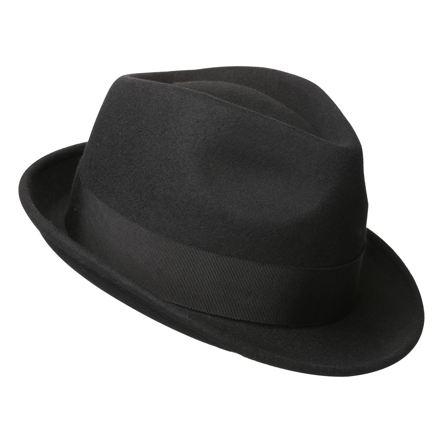 170e794bcae Sedancasesa Mens Felt Fedora Hat Unisex Classic Manhattan Indiana Jones Hats  at Amazon Men s Clothing store