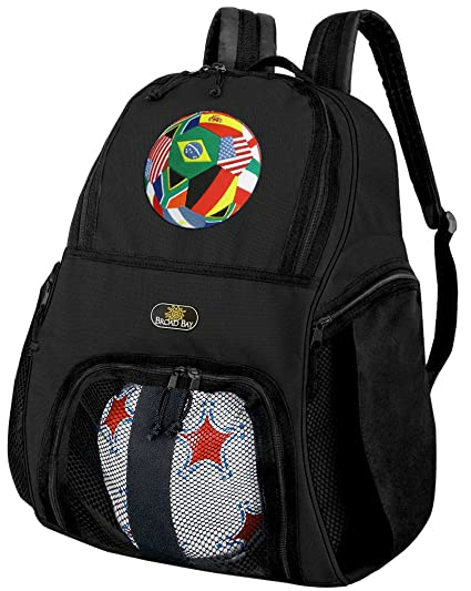 Amazon.com   Broad Bay Soccer Soccer Backpack or World Cup Fan ... 4a8b95fab991f