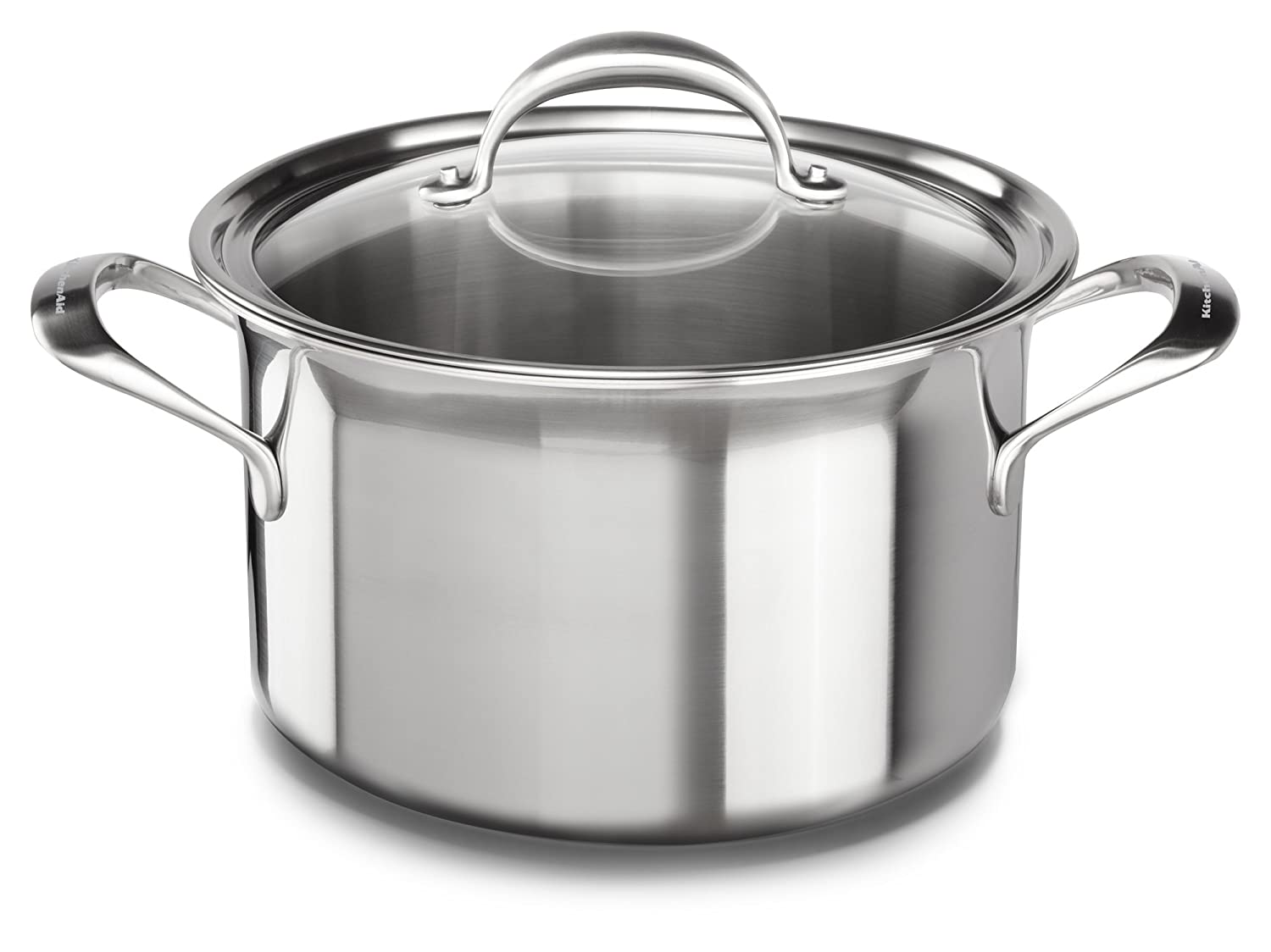 KitchenAid KC2C80SCST 5-Ply Copper Core 8 quart Stockpot with Lid - Stainless Steel, Medium, Stainless Steel Finish