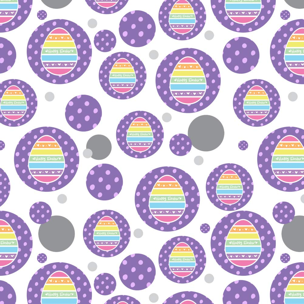 GRAPHICS & MORE Cute Rainbow Happy Easter Egg Premium Gift Wrap Wrapping Paper Roll