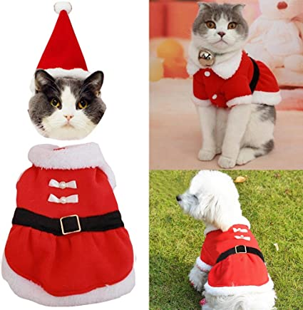 Rojo Navidad Santa Mascota Perro Bandana Bufanda Cuello Lindo Conjunto Disfraz Navidad