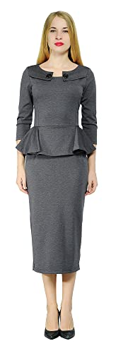 98fb67fd5 Vintage Suits Women | Work Wear & Office Wear Marycrafts Womens Work Office  Business Midi Dress