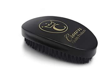 3f1f9ece0d3 Amazon.com   Crown Quality Products 360 Gold Ceaser Wave Brush   7760  (Black)   Hair Brushes   Beauty