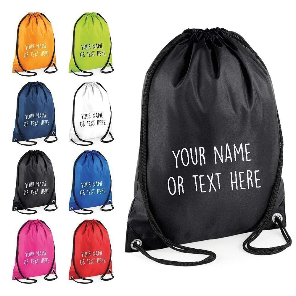 Personalised Drawstring Childrens Bag P.E Kit Boys Girls School College PE Kids