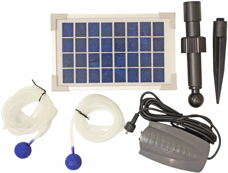 Woodside - ossigenatore stagno con pompa - 2 pietre porose - ad energia solare