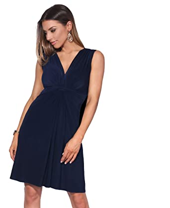 KRISP Damen Kleid mit Geknotetem Dekolleté Ohne Ärmel  Amazon.de  Bekleidung bbabd795eb