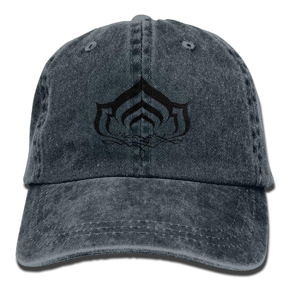 Warframe Plain Adjustable Cowboy Cap Denim Hat for Women and Men