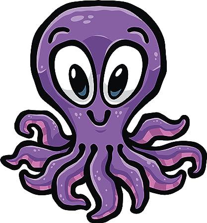 amazon com happy cute purple octopus cartoon vinyl decal sticker 4 rh amazon com big purple octopus cartoon purple octopus cartoon character
