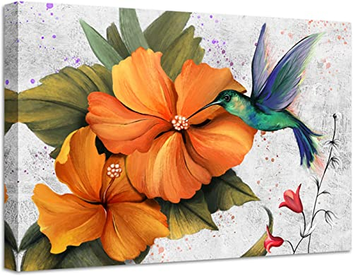 sechars Bird Painting Art Prints Abstract Hummingbird