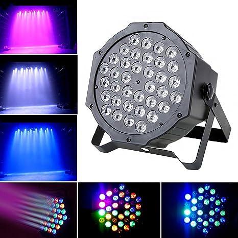 zjrighrt 36 x 1 W LED Par Luz Colores RGB PAR luz de la etapa sonido