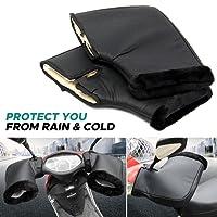Audew Gant Moto Hiver Gant de Protection Manchon Moto Installé sur Poignée, Imperméable et Thermique Convient à Moto, Scooter Noir F