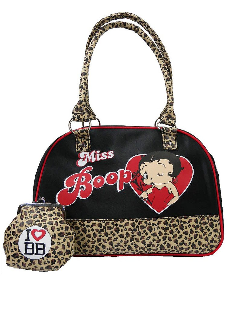 Betty Boop Official leopardo pequeño bolso y Monedero ...