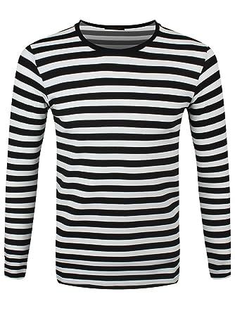 reputable site fb891 2b4ea Männer Langarm T-Shirt schwarz/weiß gestreift