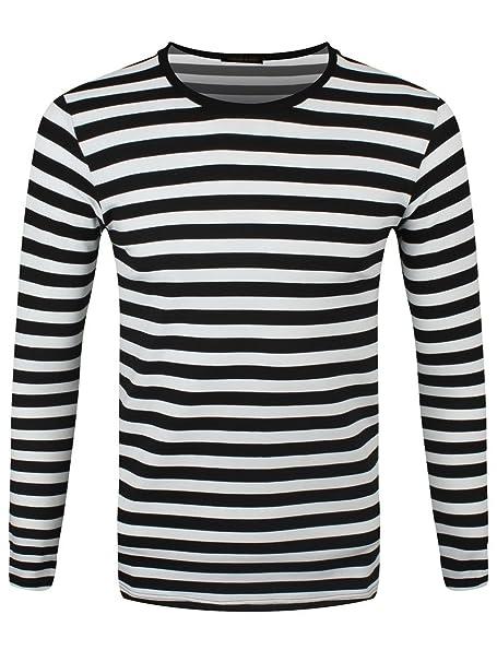 premium selection c5566 8f34a Grindstore T-shirt a maniche lunghe nera e bianca a righe