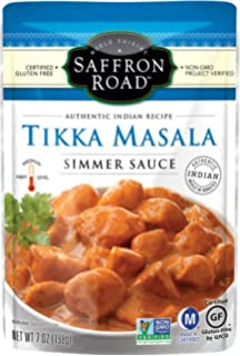 Saffron Road Simmer Sauce, Tikka Masala, 7 Ounce (Pack Of 8)