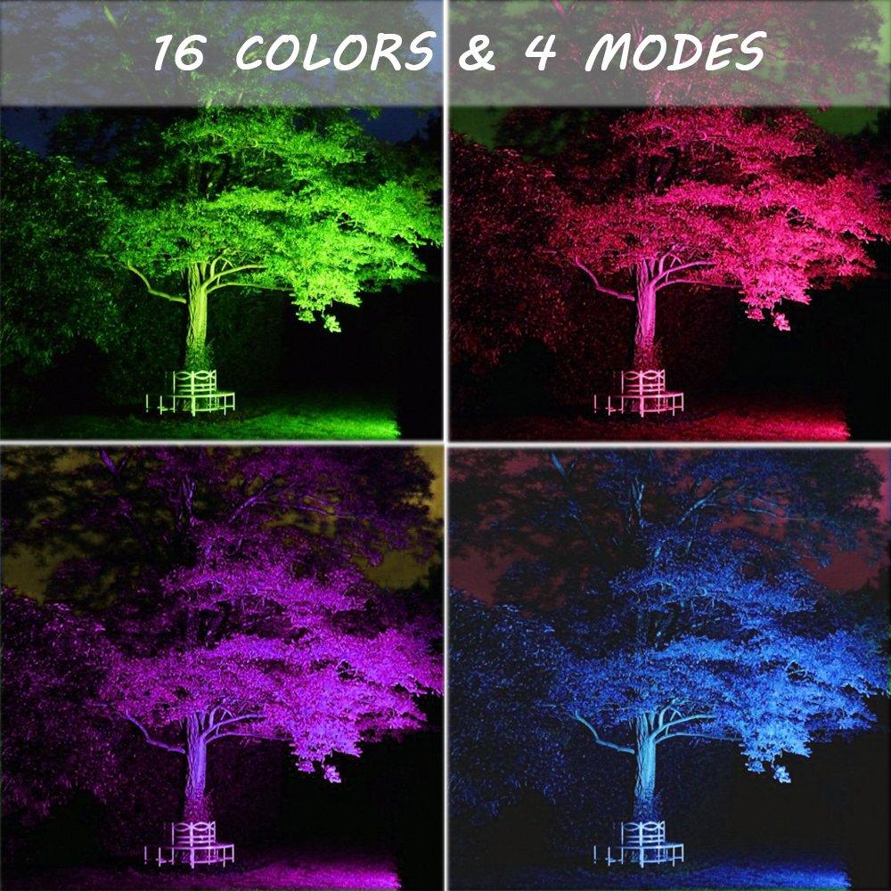 2 Pack 15w Rgb Led Flood Lights Ip66 Outdoor Color