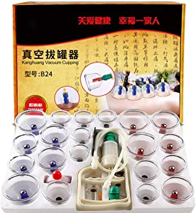 24 Cup pins Therapy Cups Effective Healthy Chinese Medical Vacuum Cupping Suction Therapy Device Body Massager Set