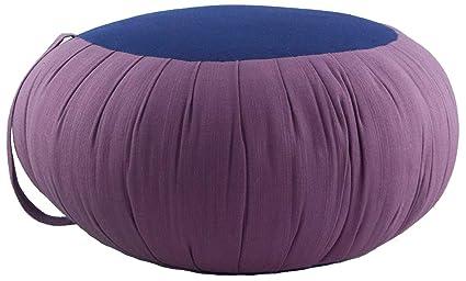 Zafuko Round Meditation and Yoga Cushion - Purple/Blue
