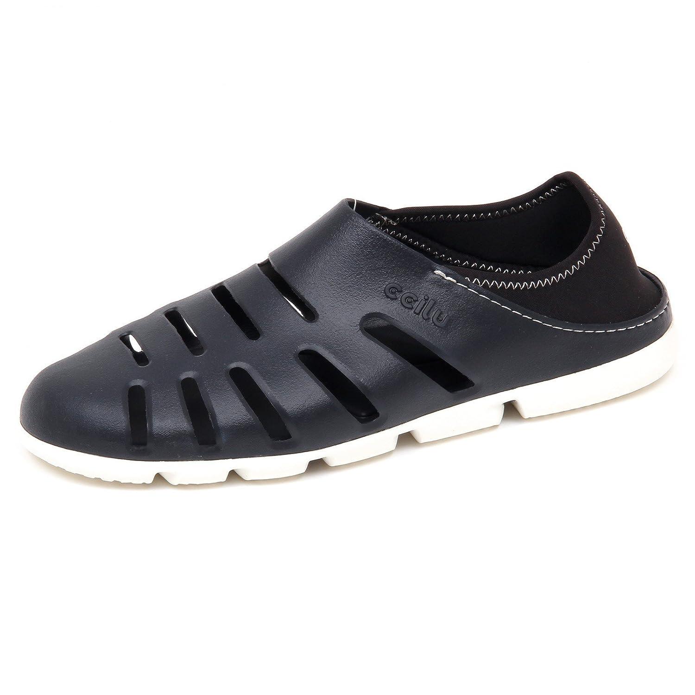 Ccilu E8170 (Without Box) Turnschuhe herren schwarz Rubber Sandal Slip on schuhe Man