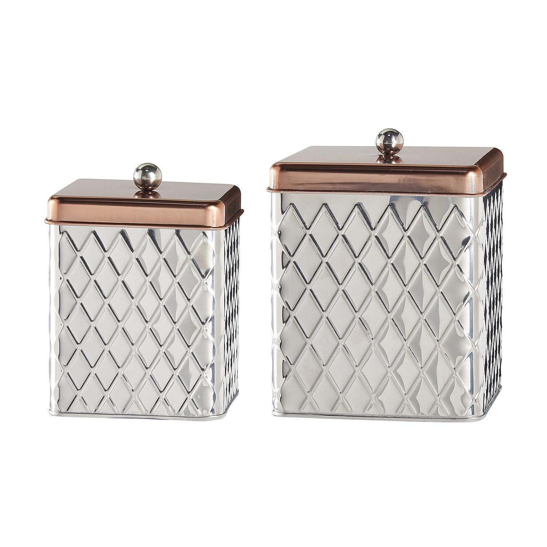 Amazon.com: Amici Madagascar Square Metal Diamond Canister ...