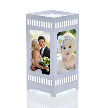 Gift&love Decorative Night Lamp & Picture Frame. Great For Unique Present-Birthday- Wedding-Anniversary-Graduation-Housewarming- Baby Shower Gift-Family Photos-Children's Room-Living Room-Office