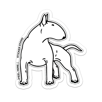 Amazon Com Bull Terrier Dog Car Bumper Sticker Decal 6 X 6
