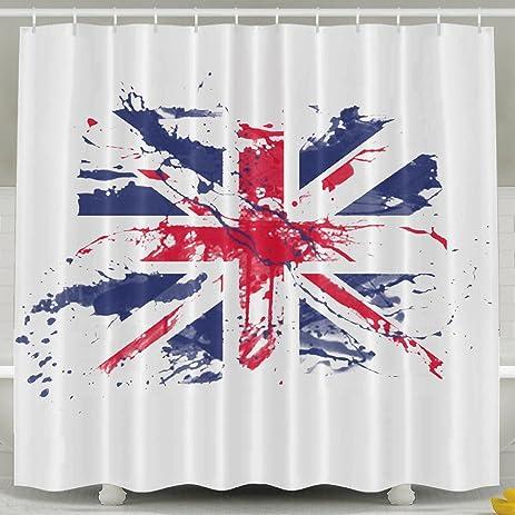 Batheman Shower Curtain Union Jack Flag British Decoration And Lovely Decor