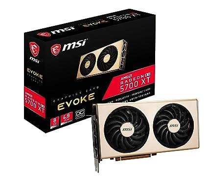 MSI Radeon RX 5700 XT Evoke OC - Tarjeta gráfica Enthusiast (256 bits, 8 GB GDDR6, HDMI, DP, PCI Express 4.0)