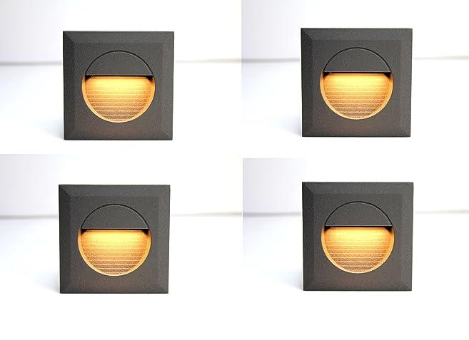 4x 1,2w LED Wandleuchte Stiegen Einbauleuchte Warmweiß Stiegenbeleuchtung Für  Innen Und Außen Stiegenleuchte Treppenlicht