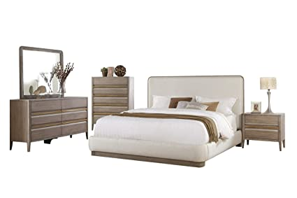 Amazoncom Alicante Mid Century Modern 5pc Bedroom Set Cal King