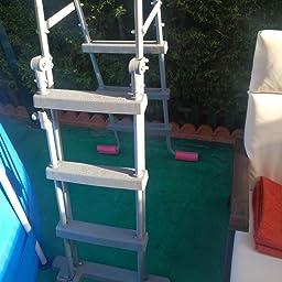 Bestway 58330 - Escalera para Piscina Desmontable 107 cm: Amazon.es: Juguetes y juegos