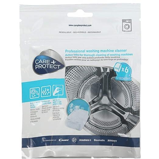 Care + Protect - Pastillas de Limpieza para Lavadora (6 x 20 g ...