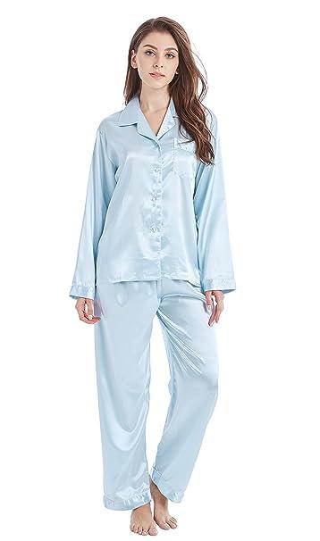 c1feabb283f9 TONY&CANDICE Para Mujer del Pijama De Satén Conjunto