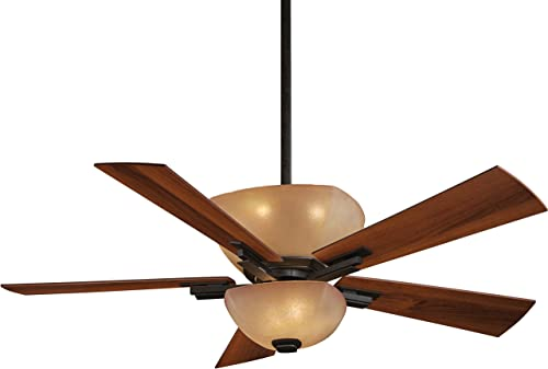 Minka-Aire F812-IO, Lineage, 54 Ceiling Fan with Light Wall Control, Oxide