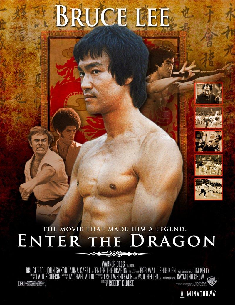 Enter The Custom Bruce Lee Dragon Design Art A Bedroom Wall
