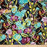 Art Gallery Fabrics Sage Painted Desert Fabric by the Yard, Night