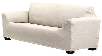 Belmarti Toronto - Funda sofa elástica Patternfit, 3 Plazas, color marfil