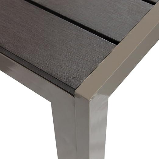 Aluminio polywood comedor 90 x 90 cm aluminio mesa comedor mesa ...