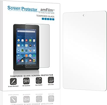 5th Gen 2015 Tablet Tempered Glass Screen Protector For Amazon Kindle Fire 7