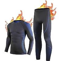 NOOYME Ropa Interior Térmica Hombre Conjuntos Térmicos para Hombre Camiseta Térmica Hombre Ropa Interior de Esquí…