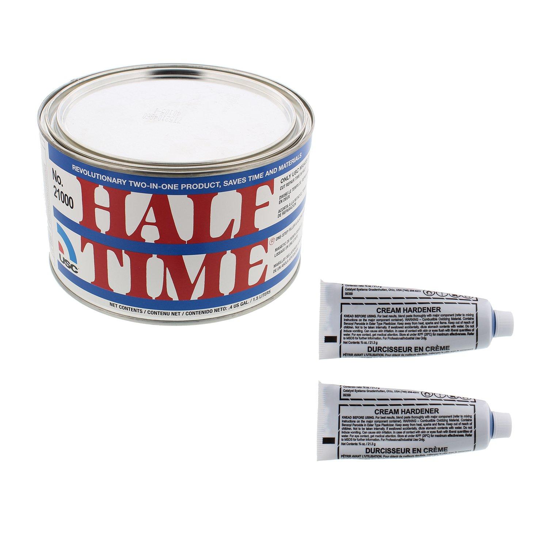 USC 21000 HALF TIME One Step Filler and Glazing Putty 1/2 Gallon w/ Hardener U.S. Chemical & Plastics