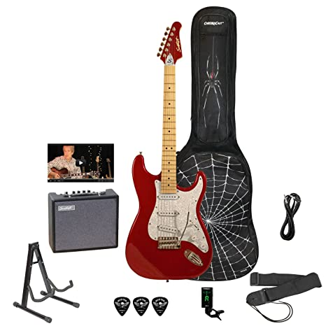 Diente de Sierra es guitarra eléctrica Rockin principiante Pack ...