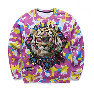 Amazon.com: Crochi Arrival Mens 3D Sweatshirt Animal Tiger Print Graphic Sweatshirts Brand Swag Clothing Harajuku Sudaderas Hombre: Clothing