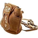 416bab18b6768 Trachtentasche Dirndltasche Trachten-Rucksack Wildleder braun mit  Trachtenstickerei