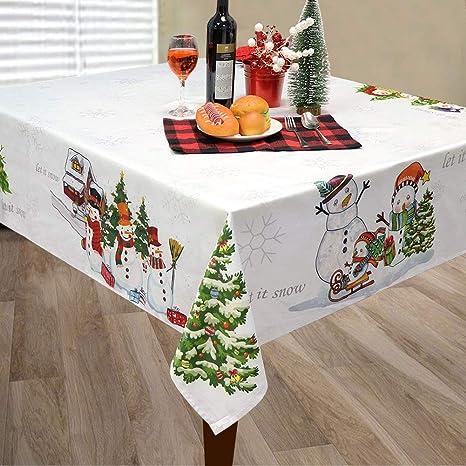Amazon.com: OurWarm Mantel de Navidad con diseño de muñeco ...
