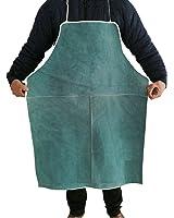ShanTrip 大判タイプ 牛革 溶接用 エプロン 防炎 溶接 防護服 やけど 対策 耐熱 青